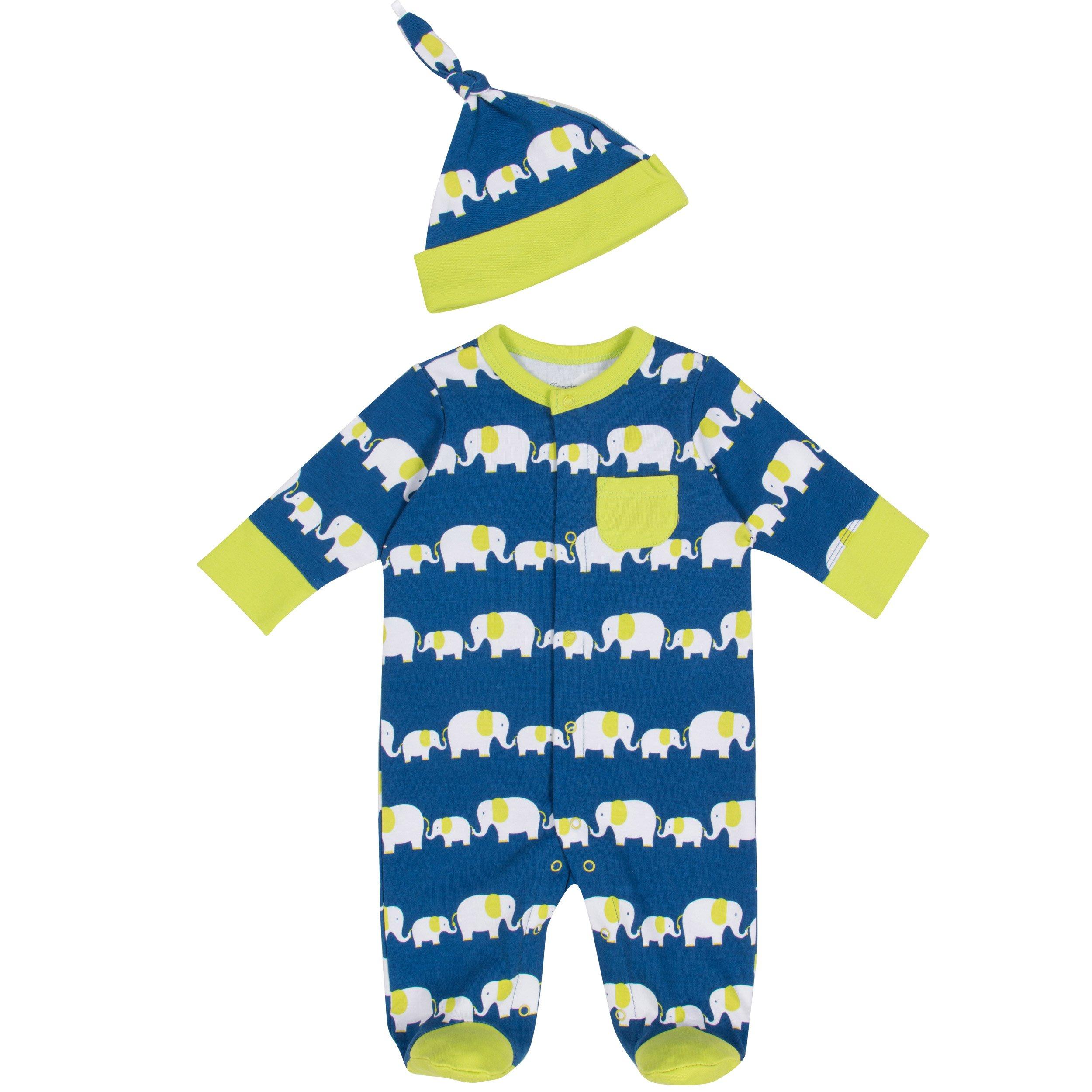 fspring Baby Boy Footie 0 9 mos Elephant
