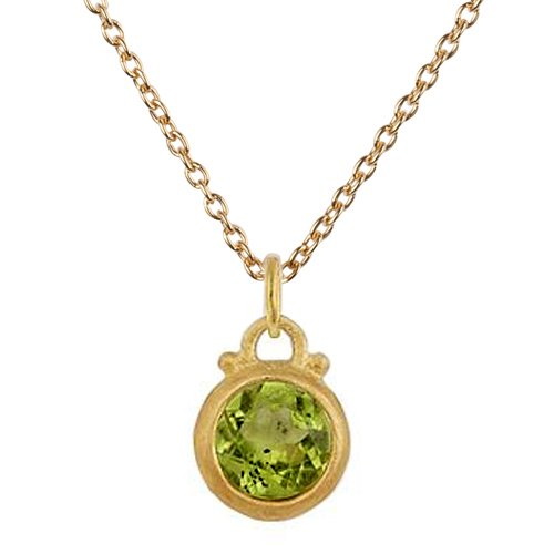 gemstone by birthstone necklace peridot set gift sterling silver embers original green jewellery product