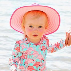 cd6007c0add Ruffle Butts Coral Polka Dot Ruffled Rash Guard Swim Set