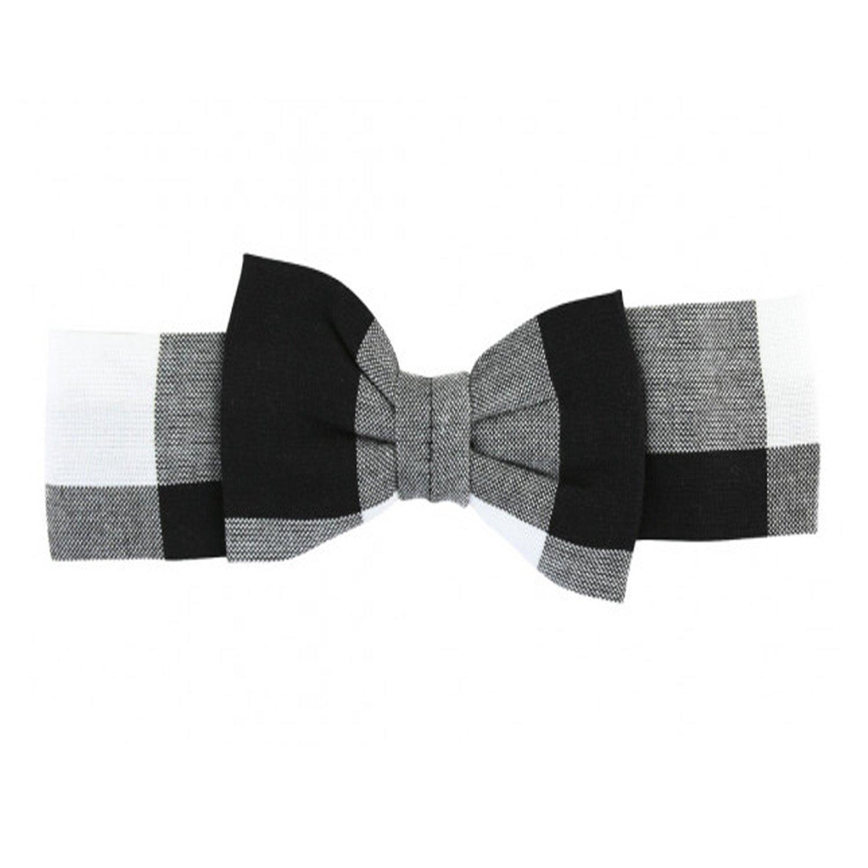 Ruffle Butts Black Amp White Plaid Bow Headband
