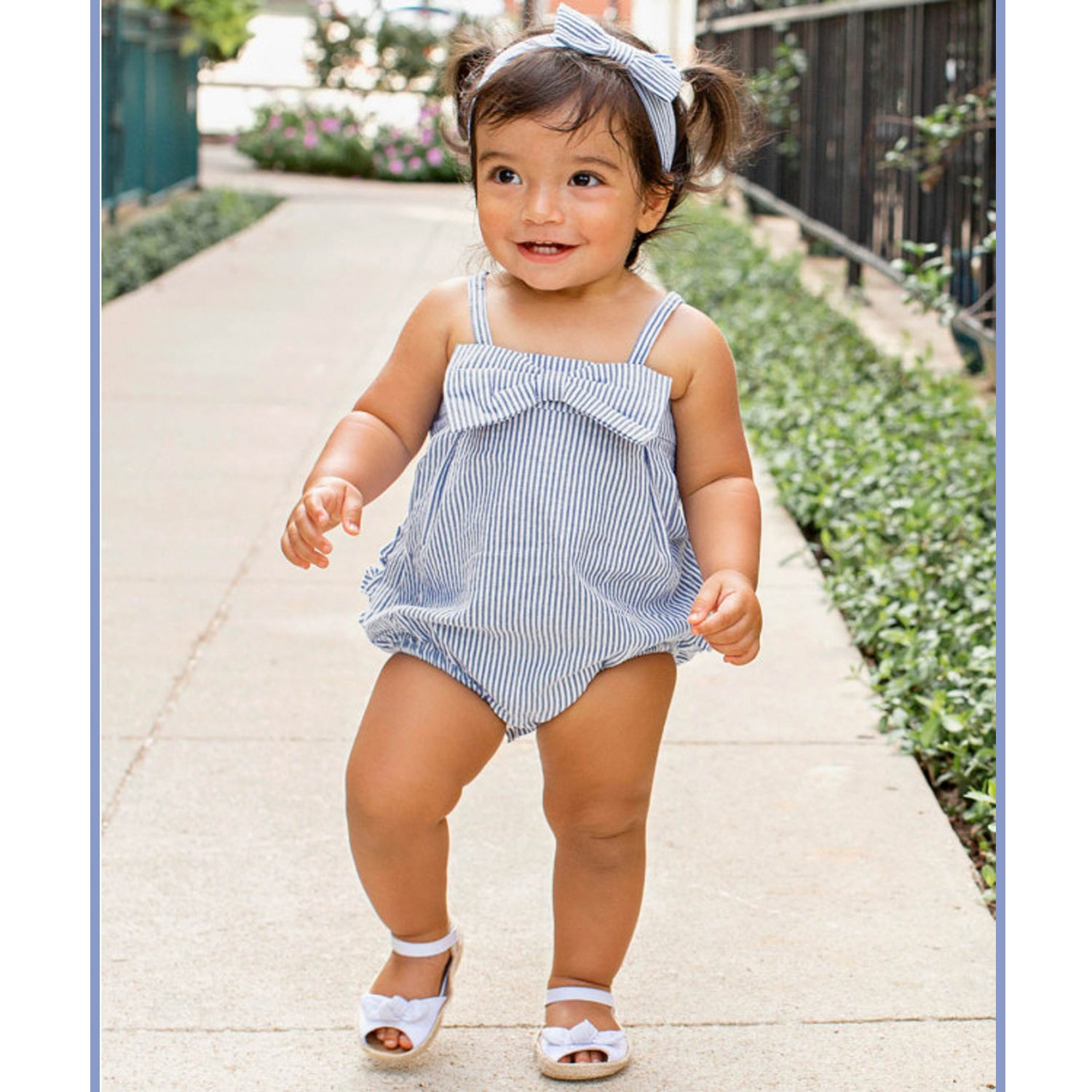 8f75810eb135 Ruffle Butts Bubble Romper-Blue Seersucker