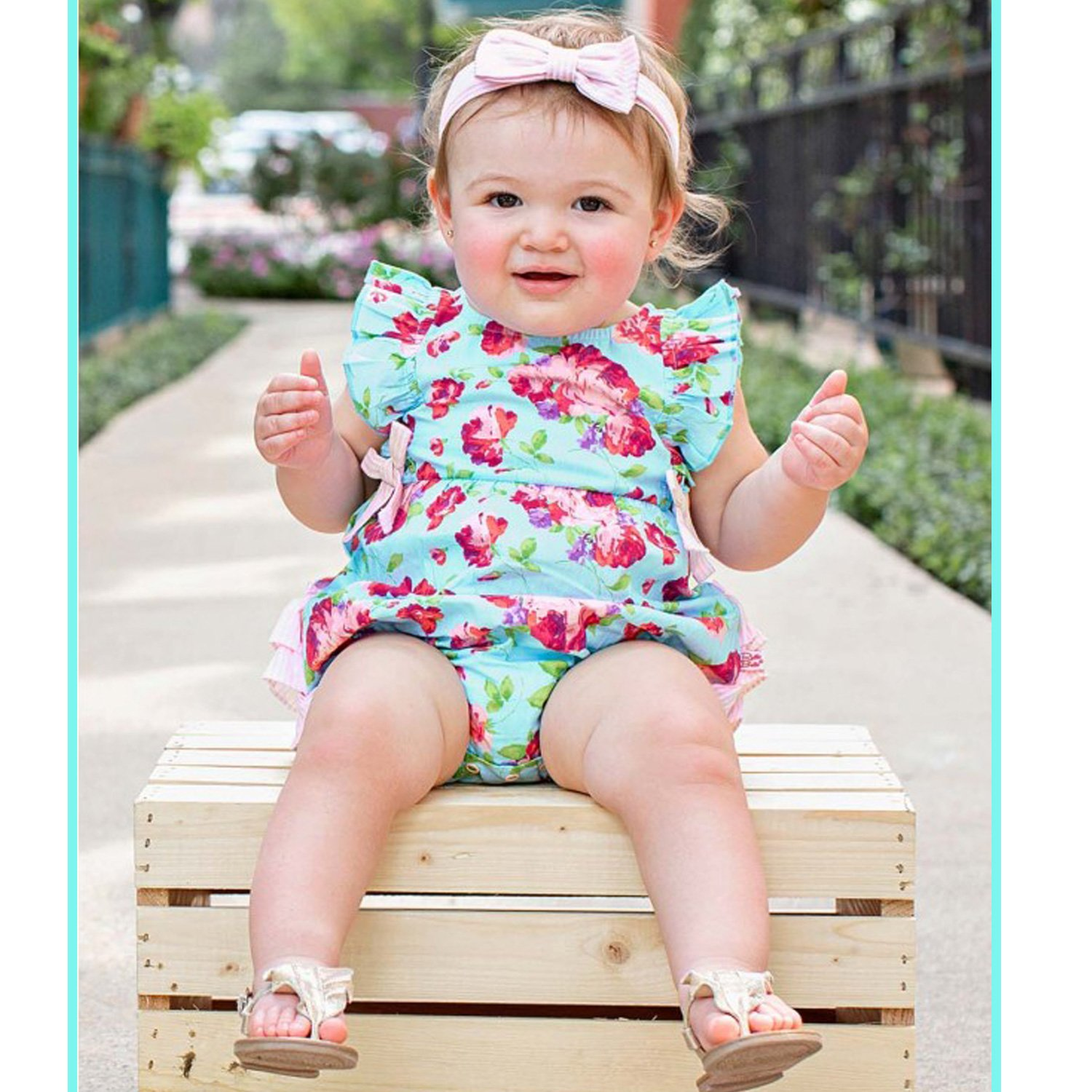 a5a4b3bc21810 Ruffle Butts Life is Rosy Ruffle Romper