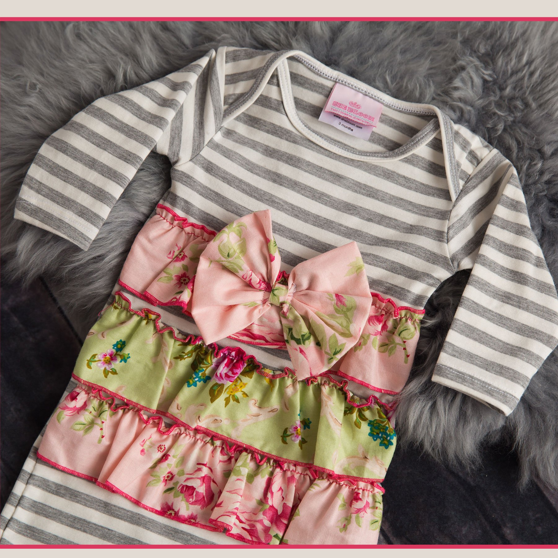 She Bloom Peggy Sage Newborn Gown