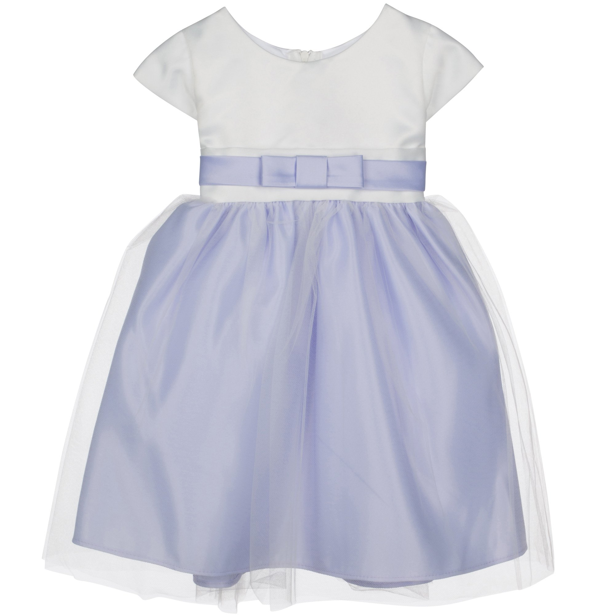 Lilac Satin \u0026 Tulle Special Occasion Baby Dress from Sweet Kids