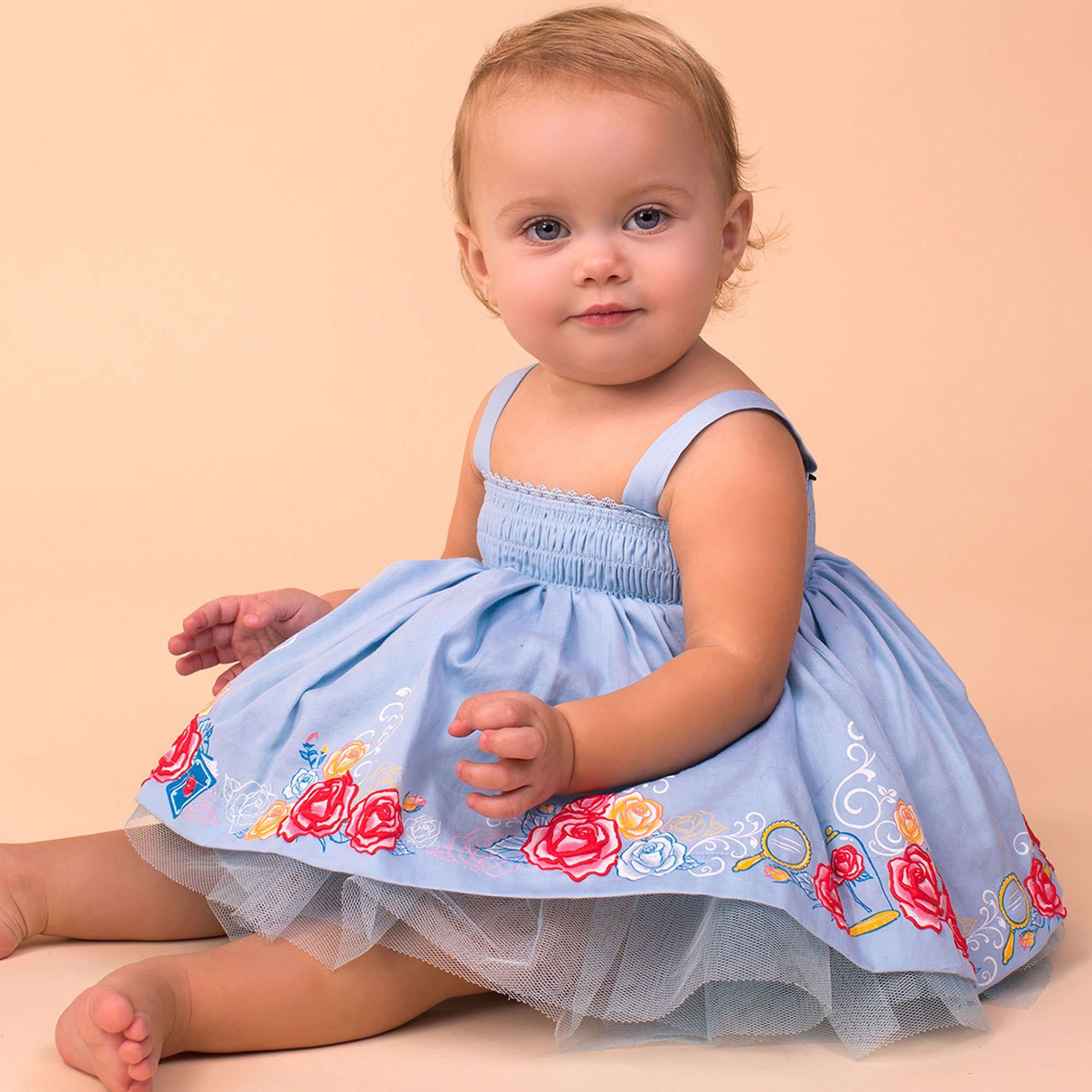 Disney by Tutu Couture Baby Belle Smocked Top Tutu Dress