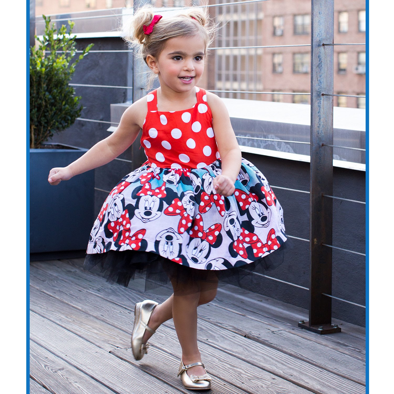 Disney By Tutu Couture Minnie Mouse Cotton Poplin Casual