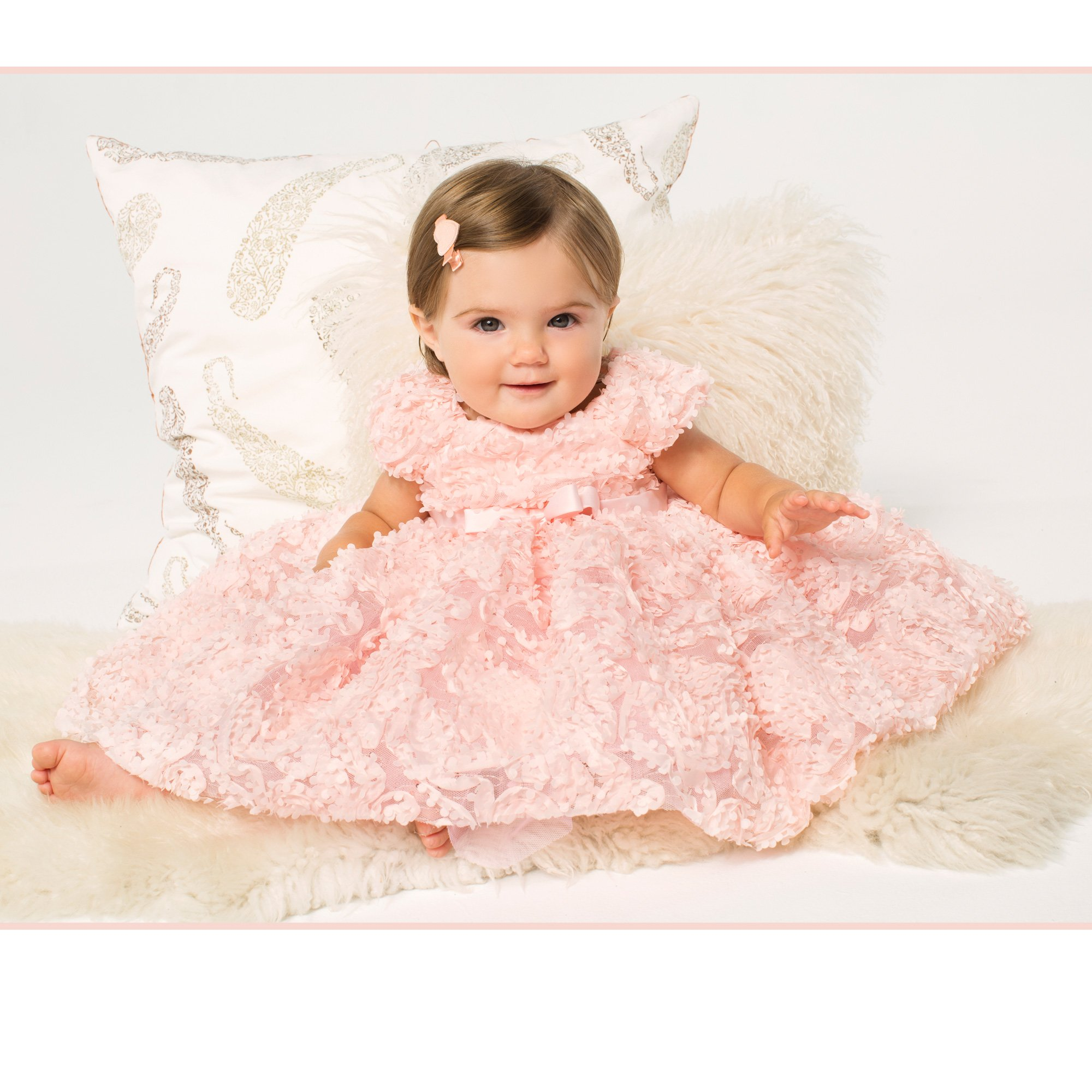 Tutu Couture Pink Petal Tutu Dress and Matching Diaper Cover