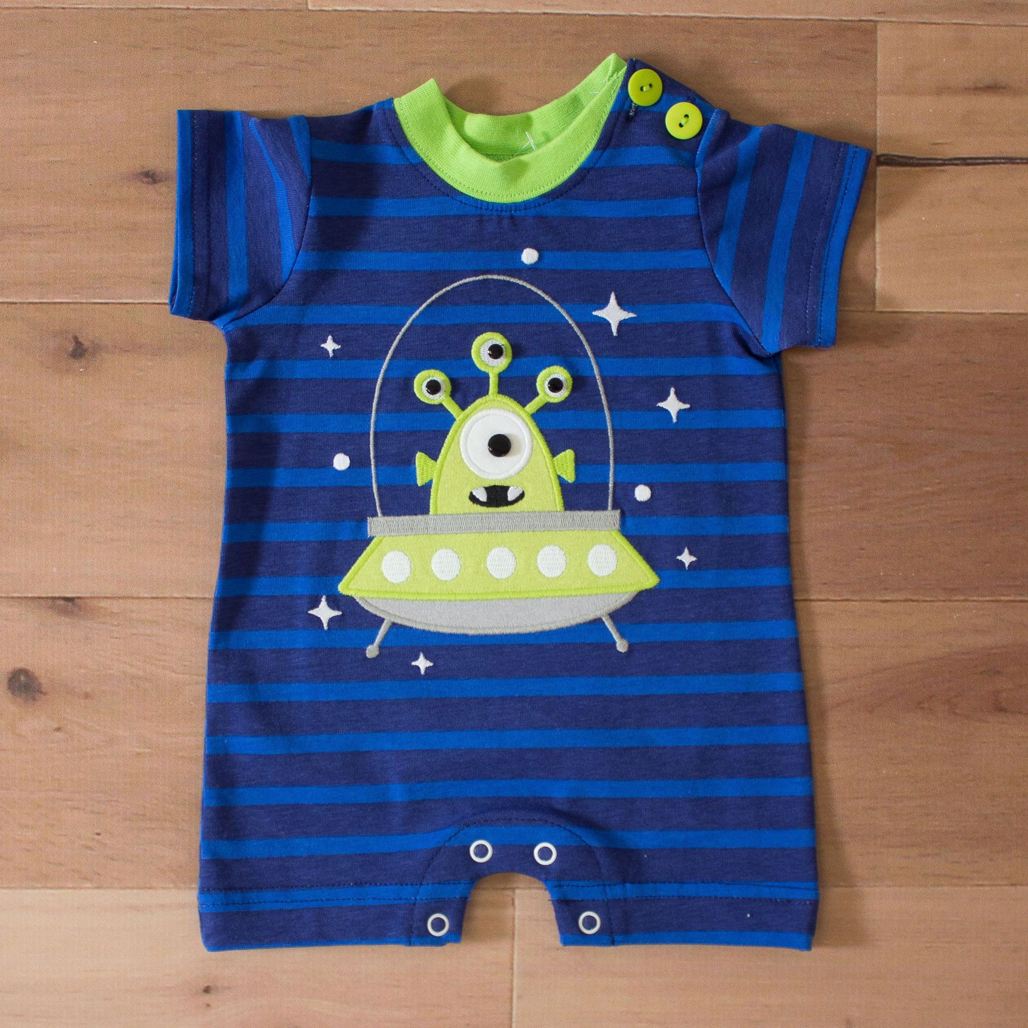 Wally Amp Willie Outa This World Romper For Baby Boys
