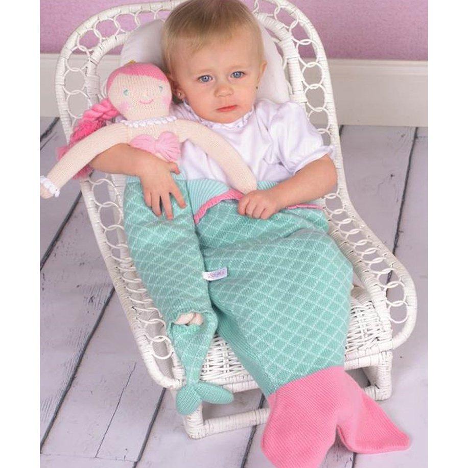 Knitting Pattern Mermaid Tail For Babies : Zubels Hand-Knit Mermaid Tail Blanket