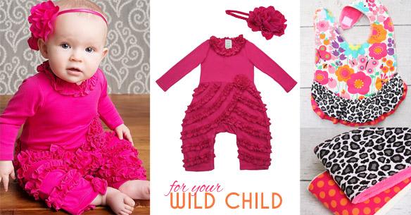 Wild Child Baby Shower Collection