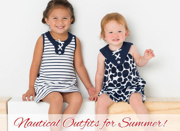 Nautical Outfits for Girls and Boys for Summer